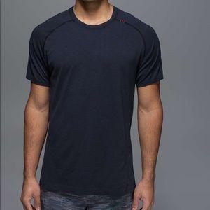 Lululemon Metal Vent Tech T shirt, deep navy/black